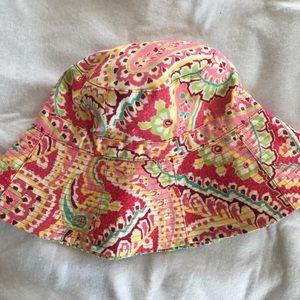 Vera Bradley pink print bucket hat